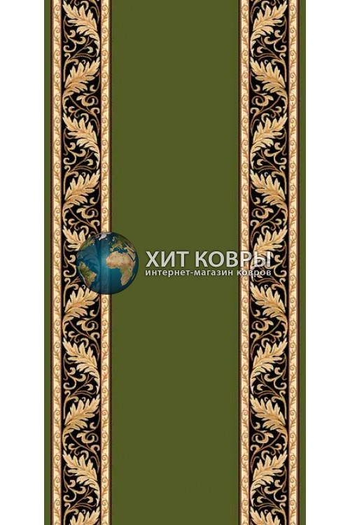 ковер в комнату кремлевский d040 зеленый
