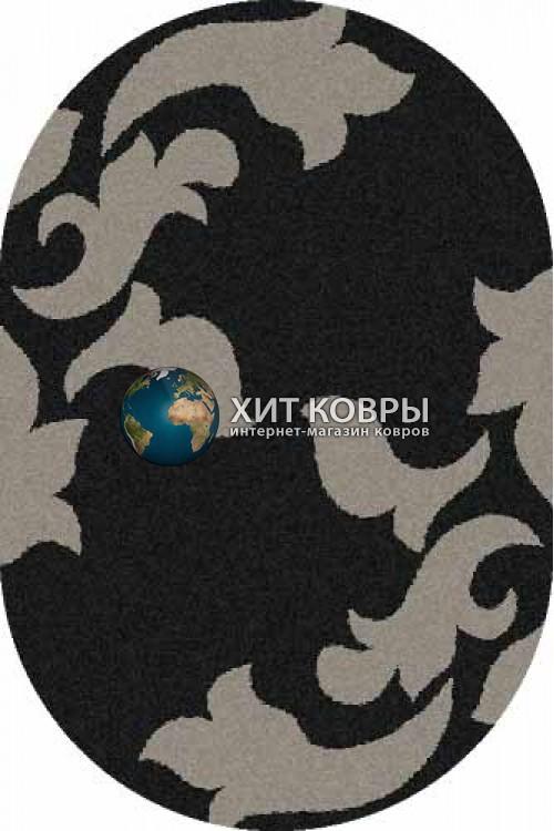 Российский ковер  овальный Platinum t620 черный серый
