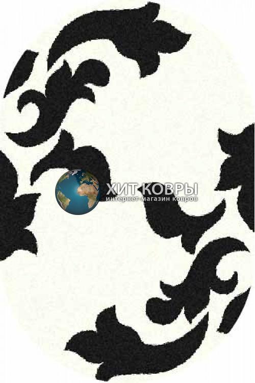Российский ковер  овальный Platinum t620 natural черный
