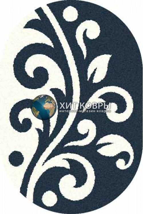 Российский ковер  овальный Platinum t621 бирюзовый natural