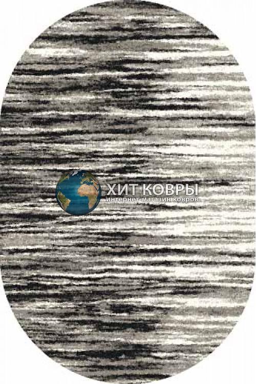 Российский ковер  овальный Platinum t623 серый